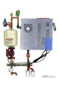 Thermolec Mini Electric Boiler and mechanical panel