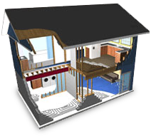 cutaway view of house