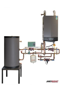 Lochinvar Knight Condensing Boiler with mechanical panel and Squire indirect tank