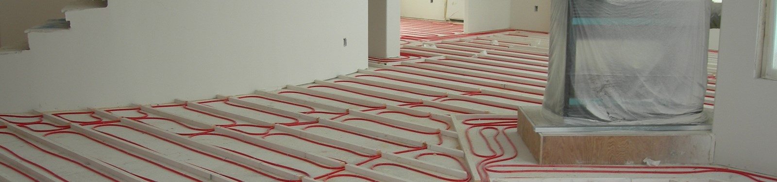 Janes radiant do it yourself radiant floor heating kits install your own radiant heating system do it yourself pex tubing laid between sleeper wood strips prior to a gypsum cement pour solutioingenieria Choice Image